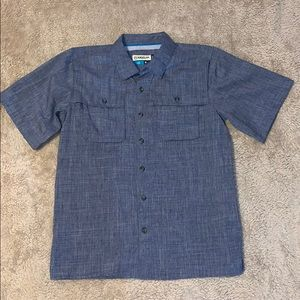 Magellan Boys Blue Fishing Shirt Size XL